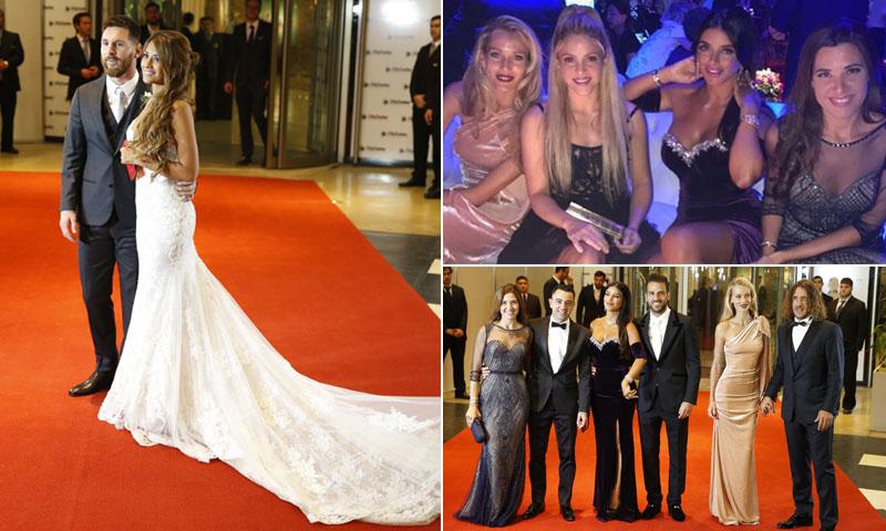 El desfile de invitados en la boda de Leo Messi y Antonela Roccuzzo