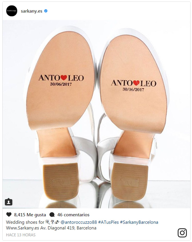 El Roccuzzo Novia Los De Mensaje Antonela Zapatos rwxPFRr0nq