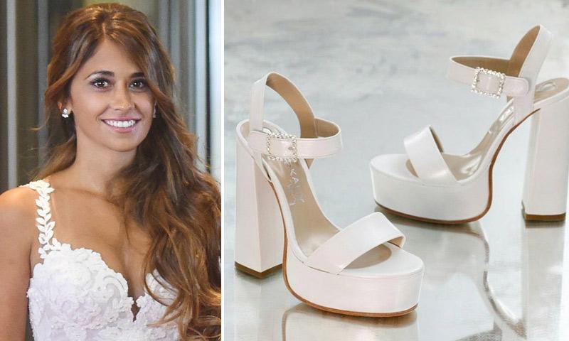 el mensaje de los zapatos de novia de antonela roccuzzo