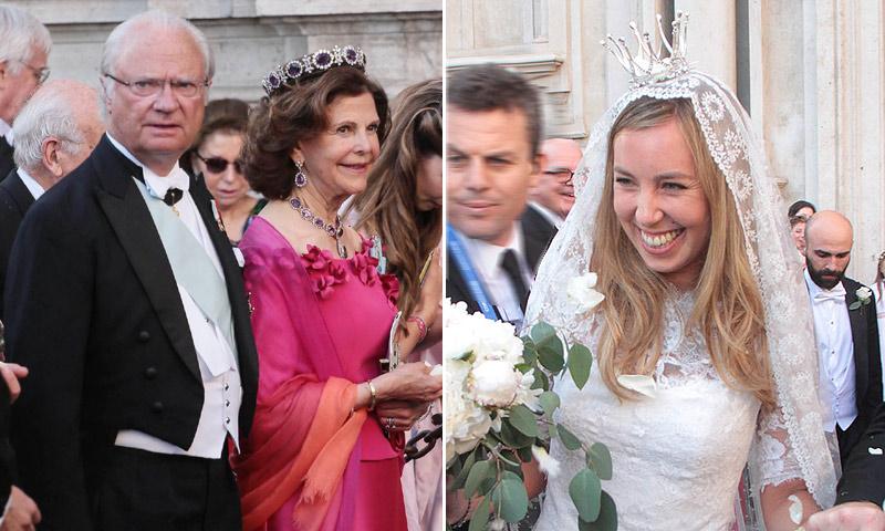 Los Reyes de Suecia y la princesa Victoria, invitados en la boda de Astrid Bernadotte y Filippo Bruti Liberati