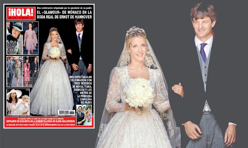 En ¡HOLA!: El 'glamour' de Mónaco en la boda real de Ernst de Hannover