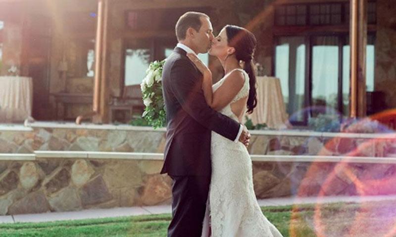 La boda a la americana del golfista Sergio García y la periodista Angela Akins