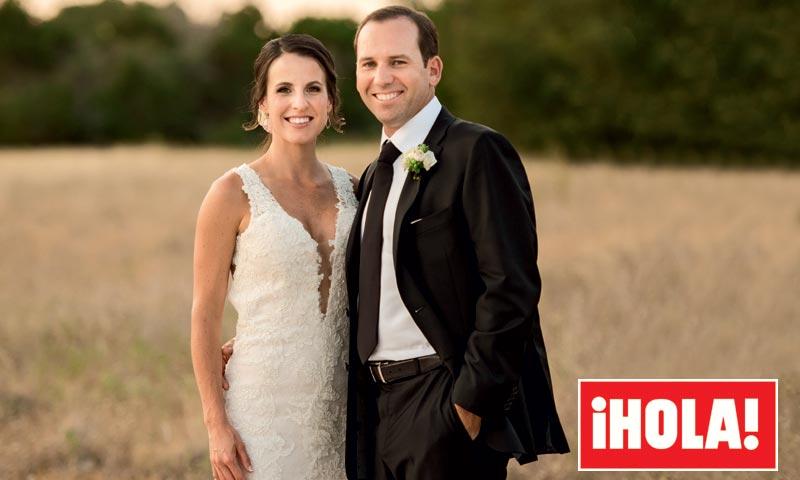 El exclusivo vestido de Angela Akins, una novia de ensueño, en su boda con el golfista Sergio García