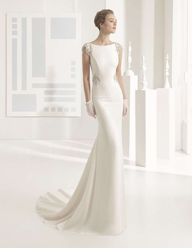 Vestidos de novia con tejido crepé, el gran protagonista de la moda nupcial