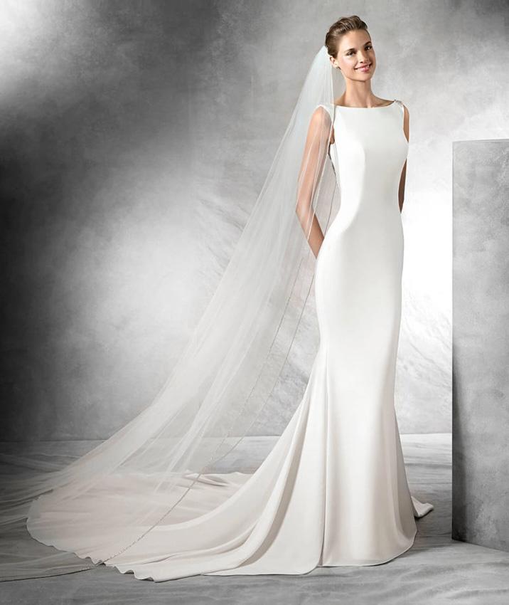 vestidos novia de crepe – vestidos de mujer