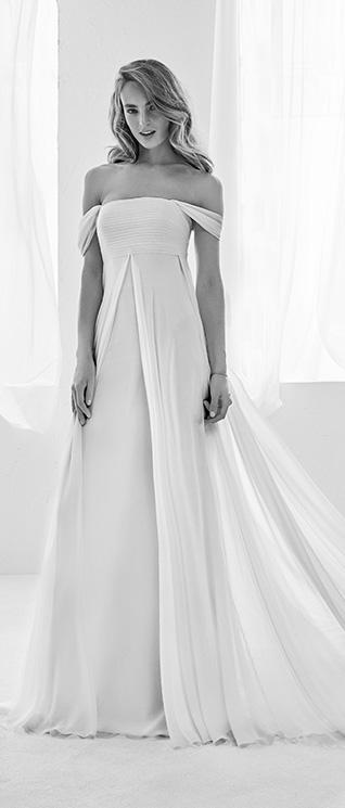 88ac18bdb Los mejores vestidos de Pronovias con corte evasé te van a encantar ...