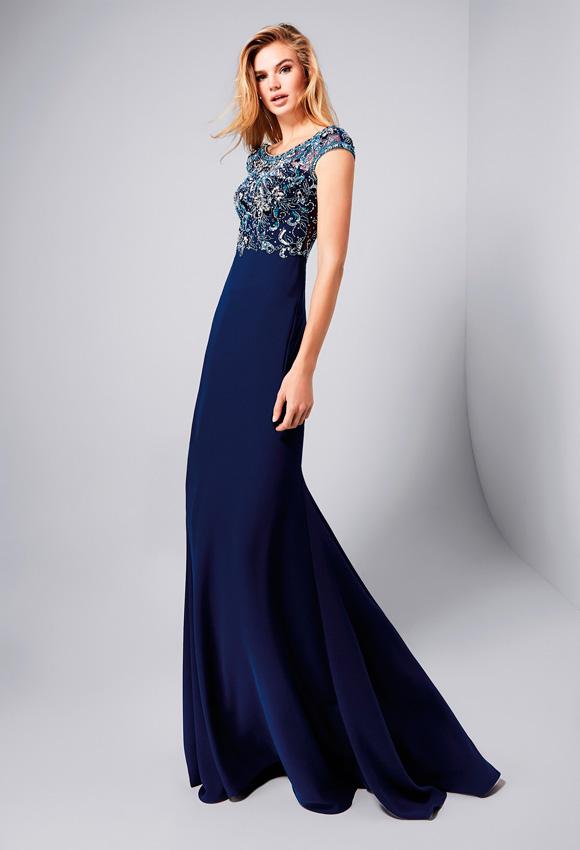 Vestidos de boda azul marino