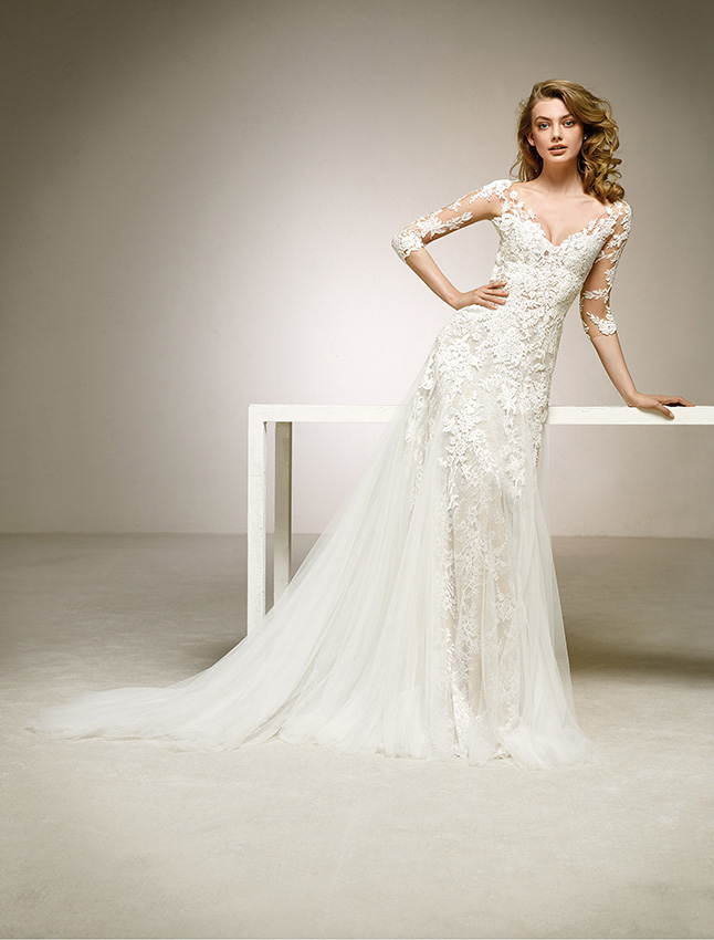 El encaje, todo un clásico en los vestidos de novia - Foto 1
