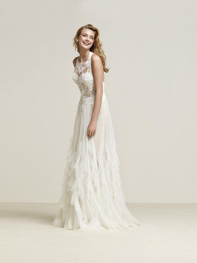 Vestidos de novia sin cola para una mujer que huye de lo ...