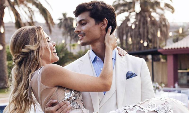 Una novia y tres vestidos: así fueron los cambios de 'look' de Mirian Pérez el día de su boda