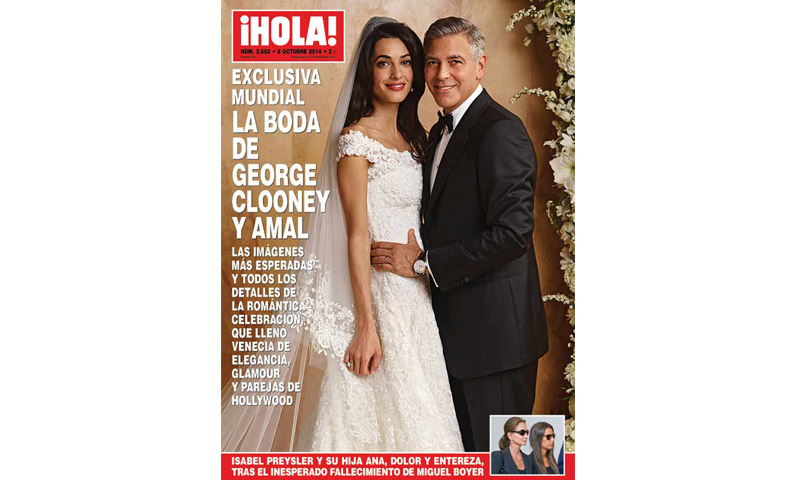 Ni te imaginas dónde está el vestido de novia de Amal Clooney