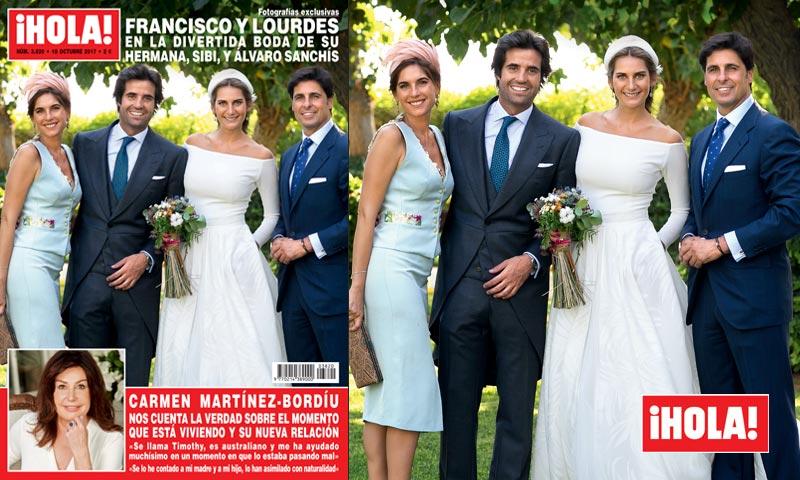 En ¡HOLA!, Francisco Rivera y Lourdes Montes, en la divertida boda de su hermana Sibi y Álvaro Sanchís