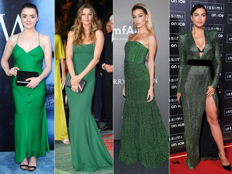 Vestido de fiesta verde tendencias otoño 2017 b9bcb26202e0