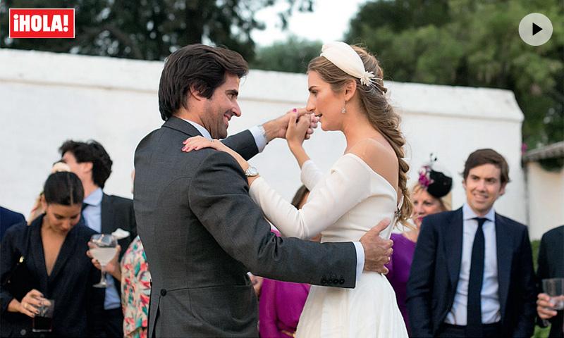 En vídeo: El beso de los novios, el baile de Lourdes... Así fue la fiesta de la boda de Sibi Montes y Álvaro Sanchís
