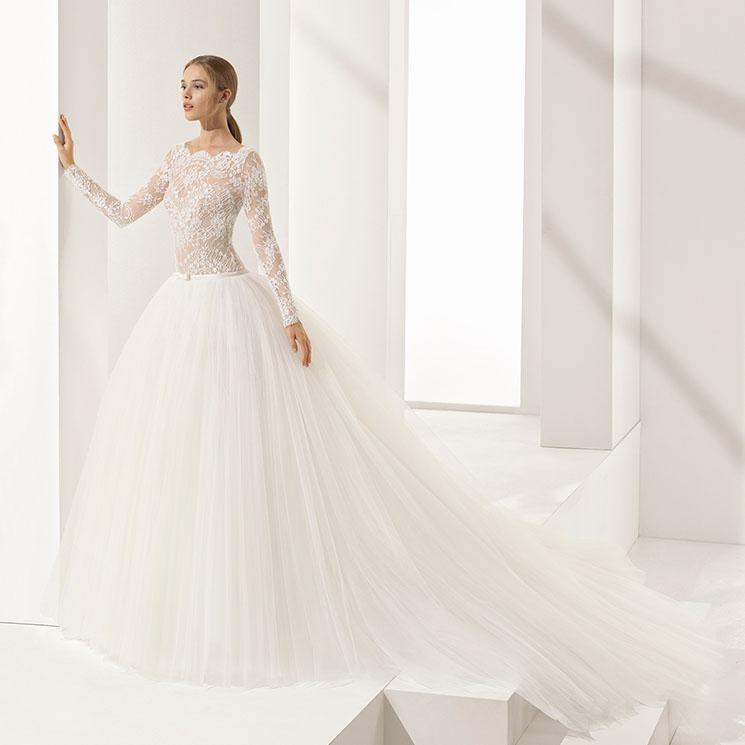 el vestido con volumen que soñabas de pequeña para el día de tu boda