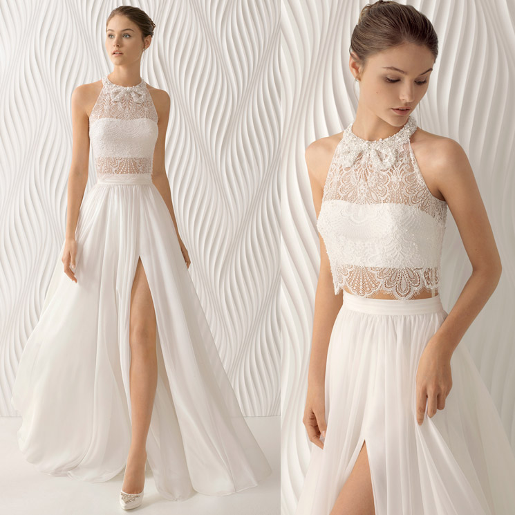 rosa clará: 9 vestidos de novia intrépidos (y 'sexys') que