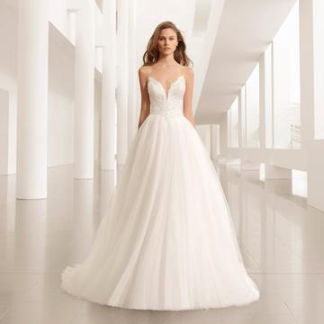 Vestidos de novia desmontables rosa clara