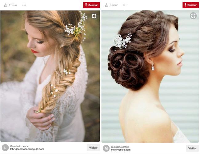 Fotos de peinados para una novia