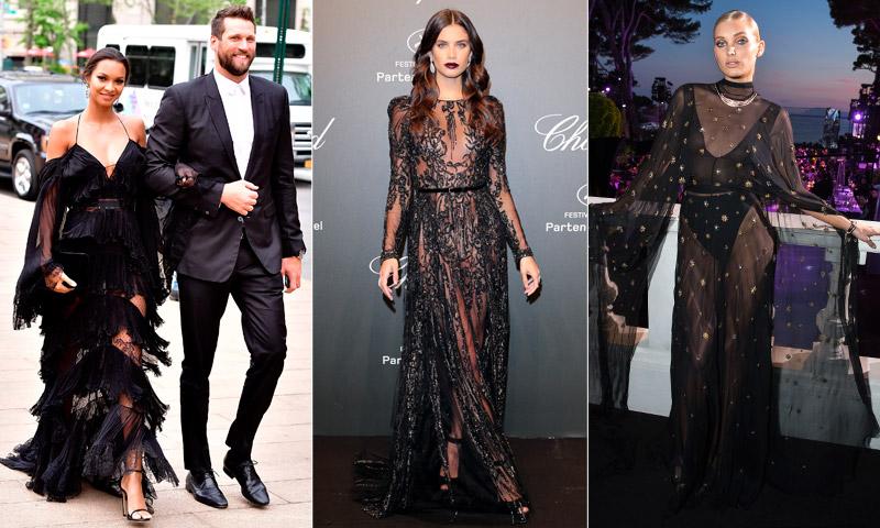 Combinar vestido negro largo para boda