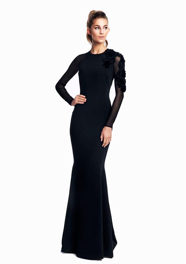 Vestido negro invitada boda dia