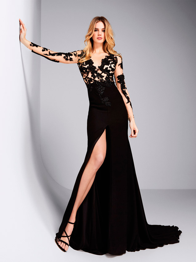Cinturon para vestido negro
