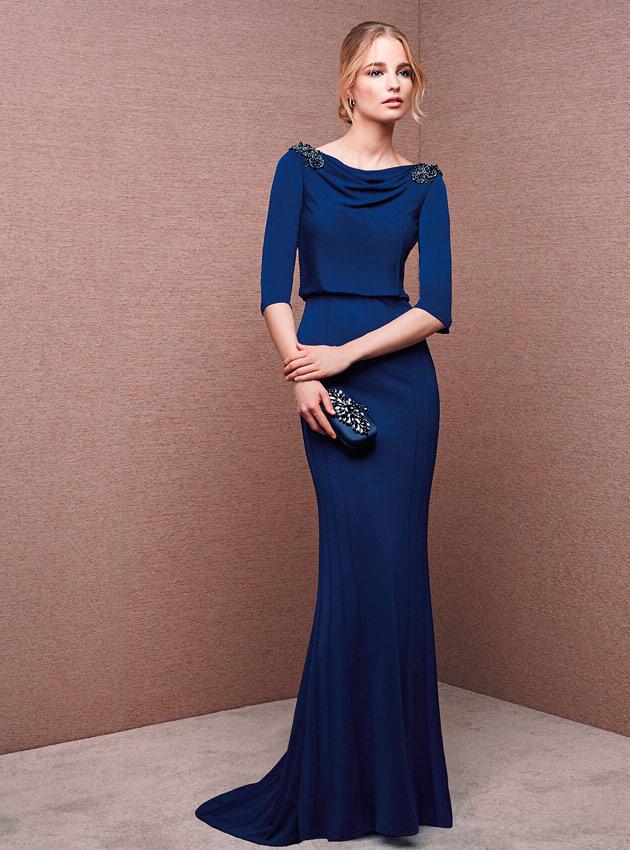 Modelos de vestidos azul noche