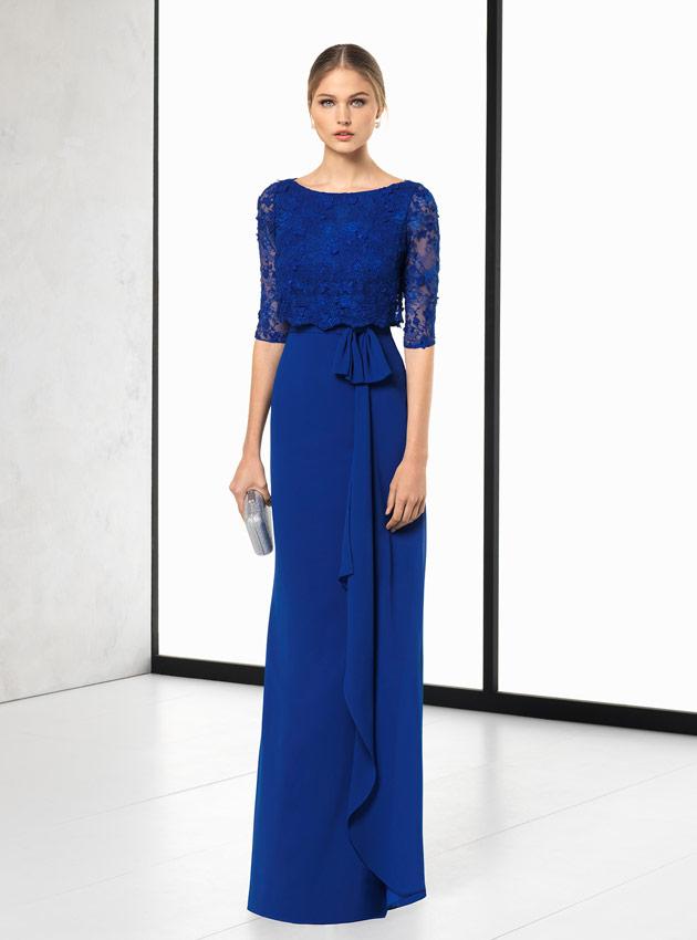 9935f782b ... Vestido madrina de boda azul 2018 ...
