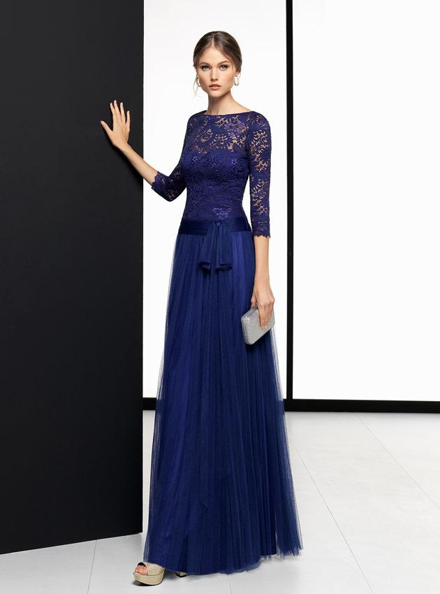 Vestido azul madrina boda