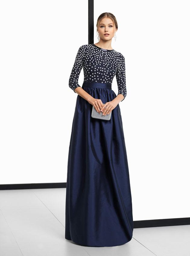 f871702ed ... Vestido madrina de boda azul 2018 ...
