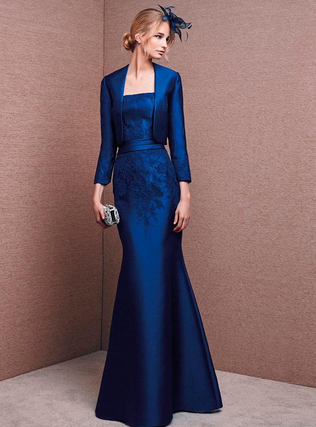 Chaqueta para vestido de fiesta azul