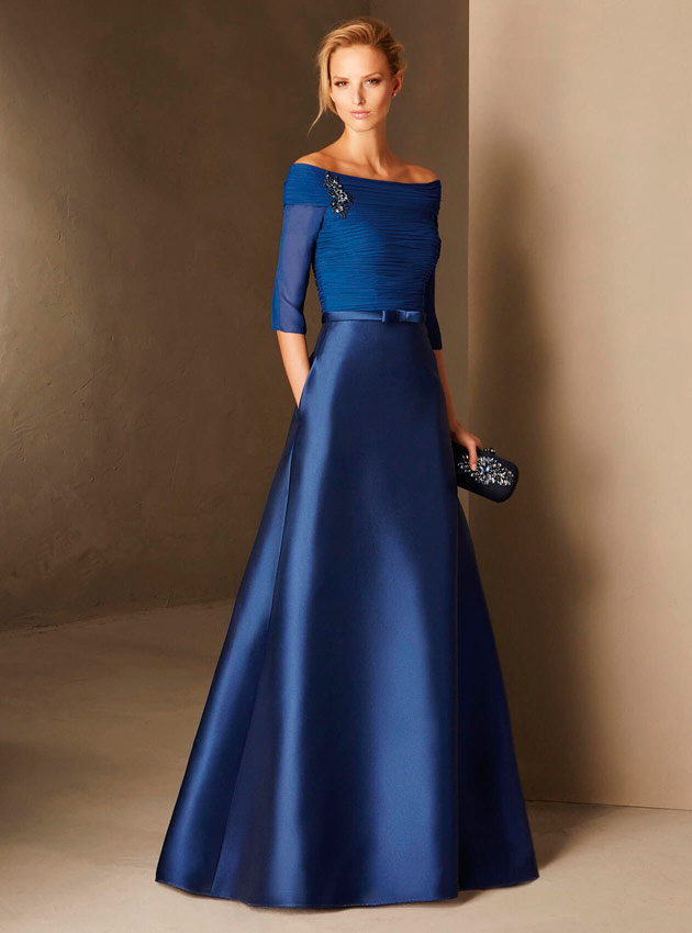 514e2c50a ... Vestido madrina de boda azul 2018 ...