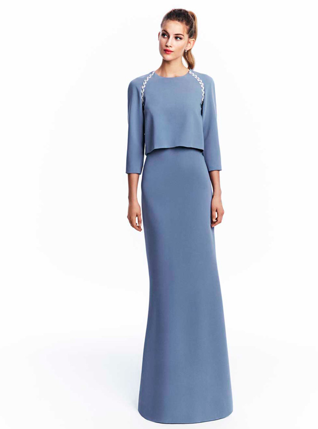 Modelos de vestidos de color azul electrico