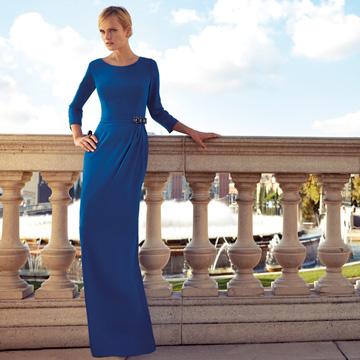 Vestidos de fiesta largos color azul francia