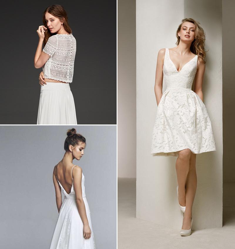 ocho vestidos de novia para apostar por una segunda opción el día de