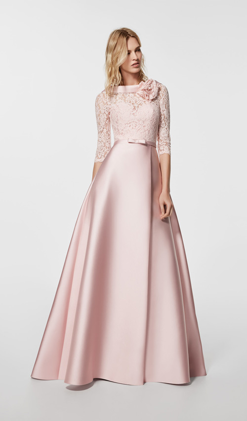 Vestidos de boda de rosa clara 2019