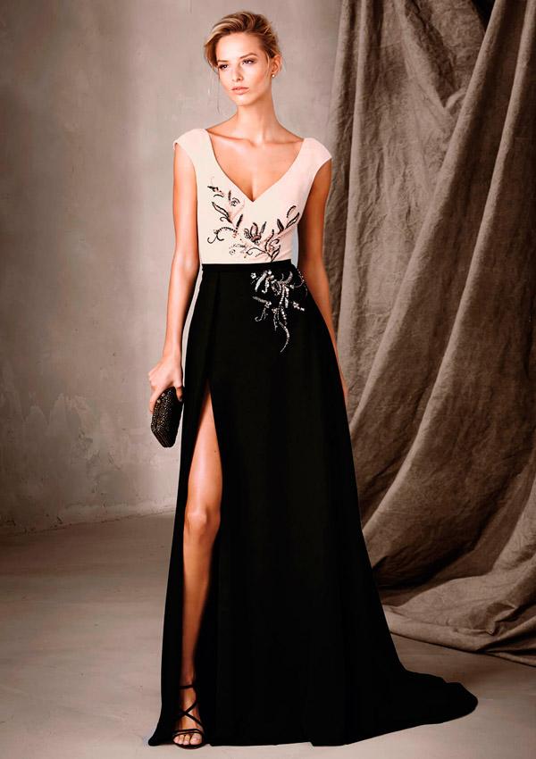 449a1ed14e ... vestidos de fiesta con doble escote ...