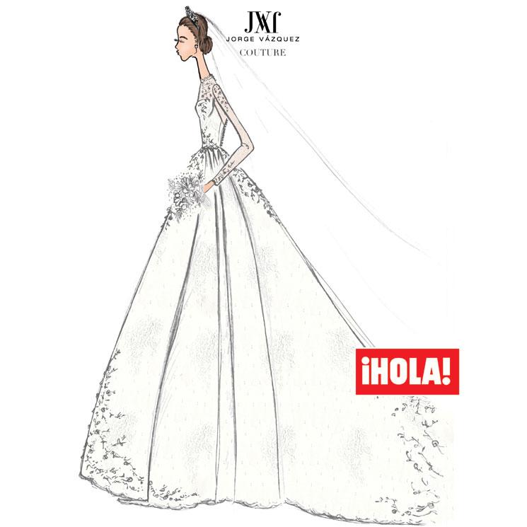 Imagenes de vestidos de novia en dibujos