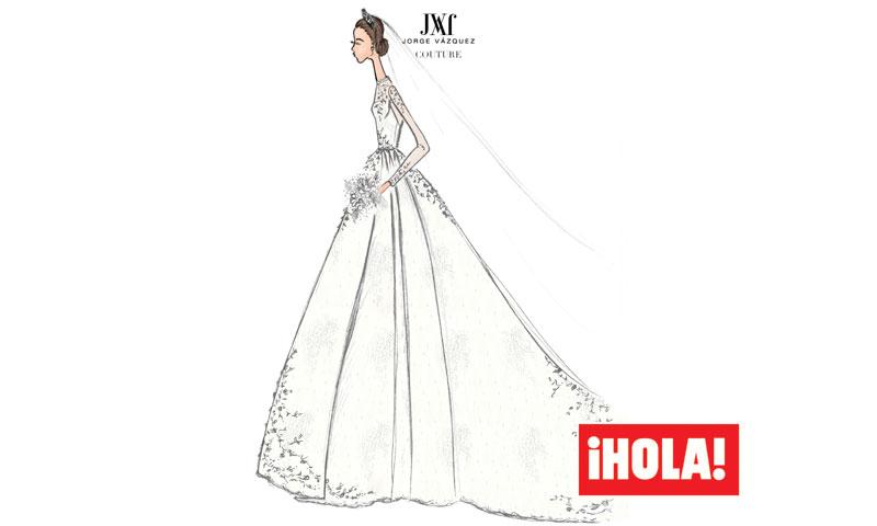 PRIMICIA: El boceto del vestido de novia de Alessandra de Osma