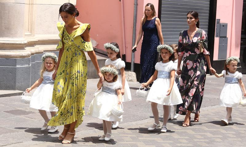 Los pajes de Alessandra de Osma, con el look de los príncipes George y Charlotte en la boda de Pippa