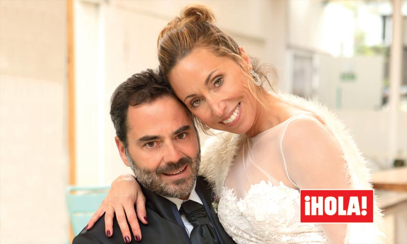 Exclusiva en ¡HOLA!, la divertida boda de Gemma Mengual