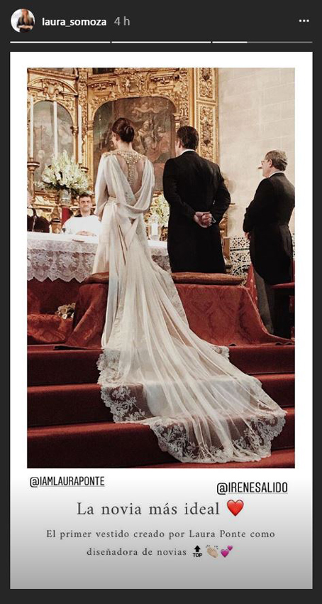 laura ponte se estrena como diseñadora de vestidos de novia - foto