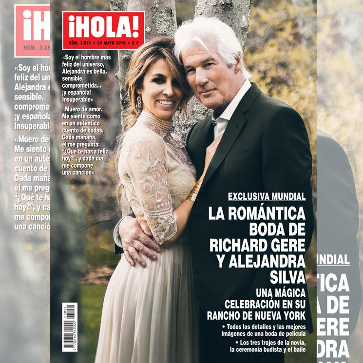 802522b9f7 Exclusiva mundial en ¡HOLA!  los tres vestidos de novia de Alejandra Silva  en su boda con Richard Gere