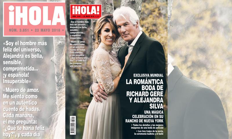 Exclusiva mundial en ¡HOLA!: los tres vestidos de novia de Alejandra Silva en su boda con Richard Gere