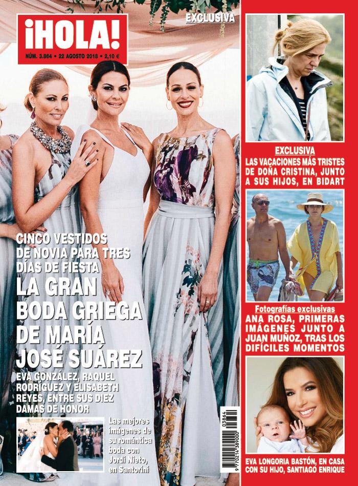 dbadf33117 Los cinco vestidos de novia de María José Suárez
