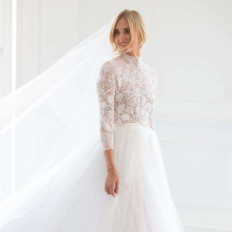 boda chiara ferragni: así ha sido su romántico vestido de novia