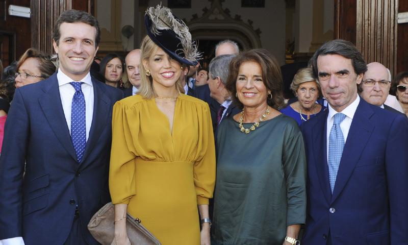 La boda del hijo de Ángel Acebes reúne a José María Aznar, Pablo Casado y José María Michavila