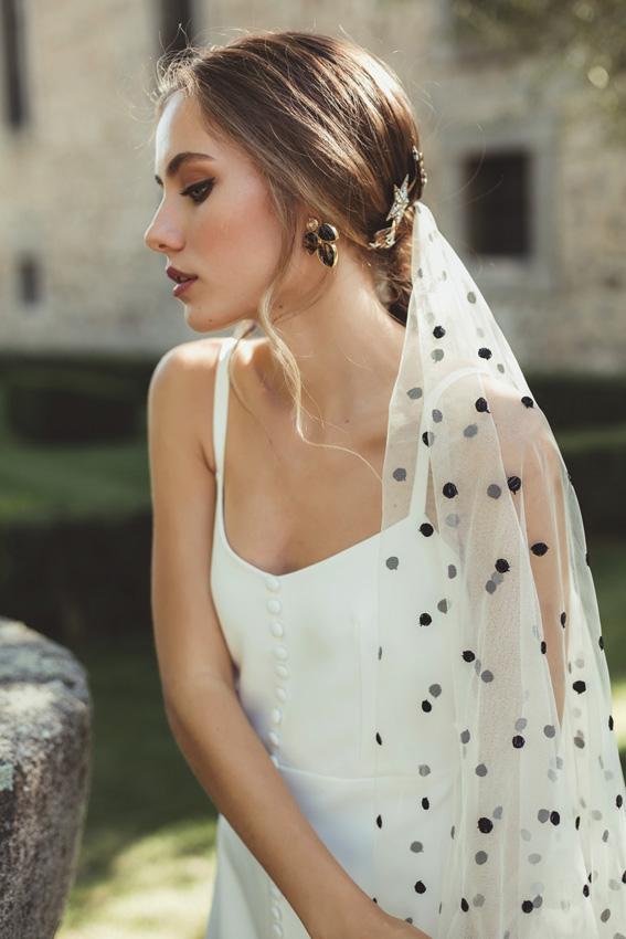 Vestido de novia velo negro