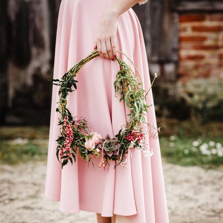 'Hoop bouquets', el romántico mensaje de los ramos circulares