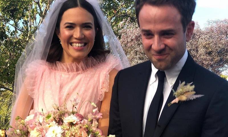 La actriz Mandy Moore y el triunfo definitivo del rosa en los vestidos de novia