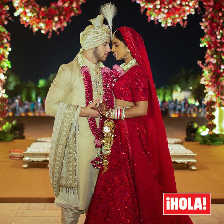 boda de priyanka chopra y nick jonas, el vestido de novia hindú